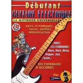 DEBUTANT GUITARE ELECTRIQUE UNIVERSELLE REBILLARD TAB CD