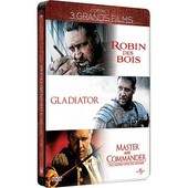 Russell Crowe - 3 Grands Films : Robin Des Bois + Gladiator + Master And Commander - �dition Collector Bo�tier Steelbook de Scott Ridley