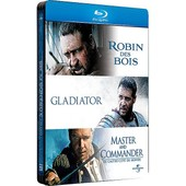 Russell Crowe - 3 Grands Films : Robin Des Bois + Gladiator + Master And Commander - Pack Collector Bo�tier Steelbook - Blu-Ray de Scott Ridley