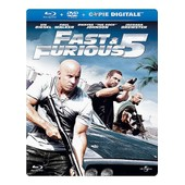 Fast & Furious 5 - Combo Blu-Ray+ Dvd - �dition Bo�tier Steelbook de Lin Justin
