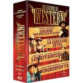 Les L�gendes Du Western - Coffret - L'homme Des Hautes Plaines + La Caravane De Feu + Winchester 73 + Les Affameurs de Clint Eastwood