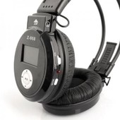 Casque audio stereo LCD Z-868 avec radio FM, MP3, WMA rechargeable