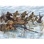 Figurines 2�me Guerre Mondiale : Infanterie Russe Tenue Hivernale