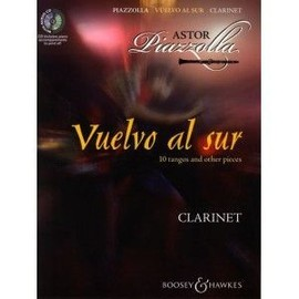 Vuelvo al sur - 10 tangos and other pieces - clarinet - CD includes piano accompaniments to print off