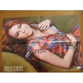 POSTER MILEY CYRUS 42CM/58CM VERSO JONAS BROTHERS