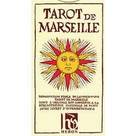 Tarot De Marseille Heron / N. Conver (Carte-Divination) 78 Cartes (Cards)