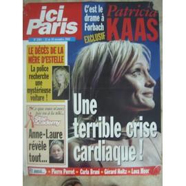 affiche presse ici paris n° 2993 12/11/2002 patricia kaas estelle lefebur anne laure star academy (50X70)