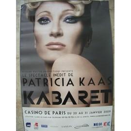 affiche officielle patricia kaas tournée live 2009 kabaret casino de paris merchandising 40X60