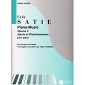 Satie Erik Piano Music Vol.3 Sports Et Divertissements