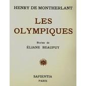 Les Olympiques - Henri De Montherlant - Livre Dans Coffret 27x24cm De 1947 Environ 250 Pages / Velin Du Marais de Henry De Montherlant