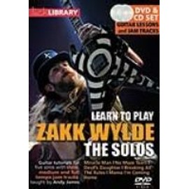 DVD LICK LIBRARY LEARN TO PLAY ZAKK WYLDE THE SOLOS CD/DVD