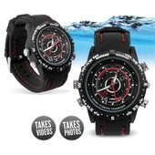 montre camera & appareil photo espion waterproof 4go