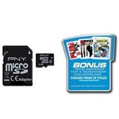 Pny - Sdu32gbhc4optson-Ef - Carte M�moire Micro Sdhc Avec Adaptateur Sd - Class 4 - Movie Offer - 32 Go