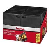 HAMA - PACK DE 30 BOITIERS DVD SIMPLE DE COULEUR NOIR.