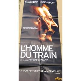 JOHNNY HALLYDAY AFFICHE POSTER CINEMA GEANTE L'HOMME DU TRAIN 137 X 58 CM