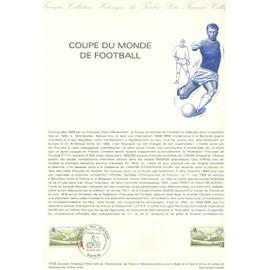 Collection Historique du Timbre Poste Français (Documents Officiels) 21 x 29.7 cm avec oblitération 1er jour : coupe monde football 1982 - sport