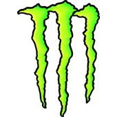 Autocollant/Sticker 2 Logos Griffes Monster Energy