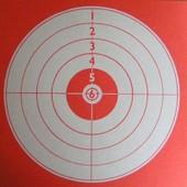 Lot De 200 Cibles Rouges 140x140mm Cartonn�es Airsoft