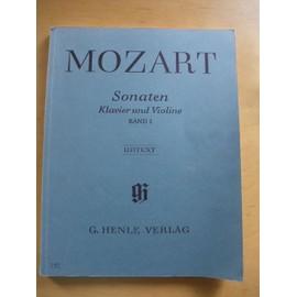 W. A. Mozart sonates pour piano et violon