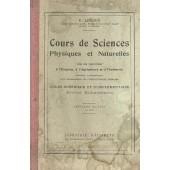 Cours De Sciences - Physiques Et Naturelles,- Avec Des Applications � L'hygienne,L'agriculture,Et � L'industrie de P. LEDOUX Doctuer �s sciences