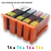 Encres Compatibles 4 (1n + 1m + 1c +1j), En Remplacement De Lexmark 100xl Pour Les Imprimantes S301 S305 S405 S505 S605 S815 S816 Pro205 Pro705 Pro805 Pro901 Pro905