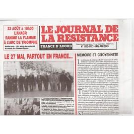 Le Journal De La R�sistance N� 1172-1173 - Mai-Juin 2005 - M�moire Et Citoyennet�