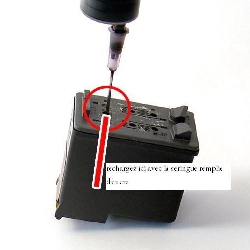 Kit De Recharge Noir Pour Hp 339 - 3x30ml + 1 Seringue