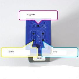 Kit De Recharge Couleur Pour Hp 342 - 3x30ml + 1 Seringue