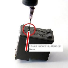 Kit De Recharge Noir Pour Hp 336 - 3x30ml + 1 Seringue