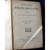 Dictionnaire Francais-Latin de GEORGES EDON