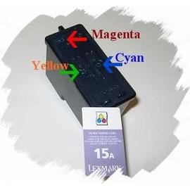 Kit De Recharge Couleur Pour Lexmark 15 A - 3x30ml + 1 Seringue