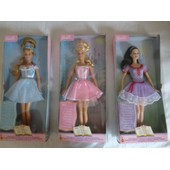 Lot De 3 Poup�es Barbie Belle Au Bois Dormant, Cendrillon, Blanche Neige Collection Princesses Mattel 2003
