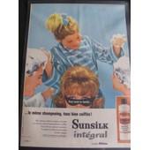 Affiche Publicitaire Sunsilk Originale Des Ann�es 1960