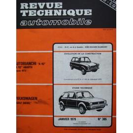 Revue Technique Automobile N� 385 Janvier 1979 - Autobianchi