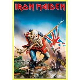 Poster encadré: Iron Maiden - The Trooper (91x61 cm), Cadre Plastique, Jaune