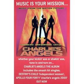 Charlie's Angels Poster - La Musique Est Ta Mission (75x50 cm)