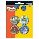 Les Simpson Paquet De Pins - Springfield Citizens, 4 X 38mm Pin's (15x10 Cm)