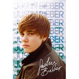 Justin Bieber Poster - Water - Autographe (91x61 cm)