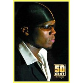 Poster encadré: 50 Cent - From Pieces To Weight (91x61 cm), Cadre Plastique, Jaune
