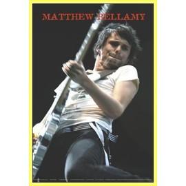 Poster encadré: Muse - Matthew Bellamy Live (91x61 cm), Cadre Plastique, Jaune