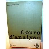 Cours D'analyse - Tome 1 de Laurent Schwartz