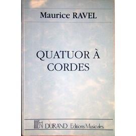 """Ravel """"Quatuor à Cordes"""" Partition de poche"""