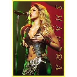 Poster encadré: Shakira - Live (91x61 cm), Cadre Plastique, Jaune