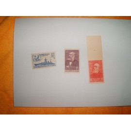 LOT DE 3 TIMBRES NEUFS FRANCE ANNEE 1938/1939 N° YT 378 / 425 / 436
