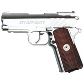 Sti Off Duty Co2 Chrome Full Metal Non Blowback Rail Asg 17012 Airsoft Pistolet A Billes 1.2 Joule