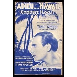 Adieu .. Hawaii  -  Tino Rossi   (Au Casino de Paris)