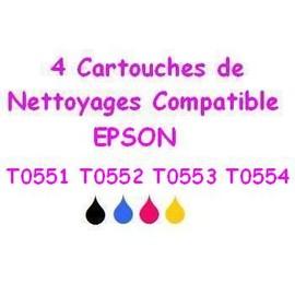 4 Cartouches De Nettoyage Pour Epson R245 Rx420 Rx425 Rx520