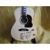 Guitare Miniature Beatles * John Lennon Gibson Peace Acoustic