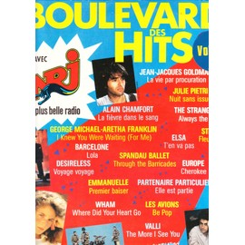 boulevard des hits  vol 2  Trough the barricades, cherokee, voyage voyage, be pop, lola, the more i see you, elle est partie, i knew you were waiting, where disd your heart go, la fièvre dans le sang,