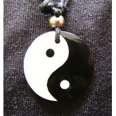 Pendentif Tao Collier Yin Yang Nacre